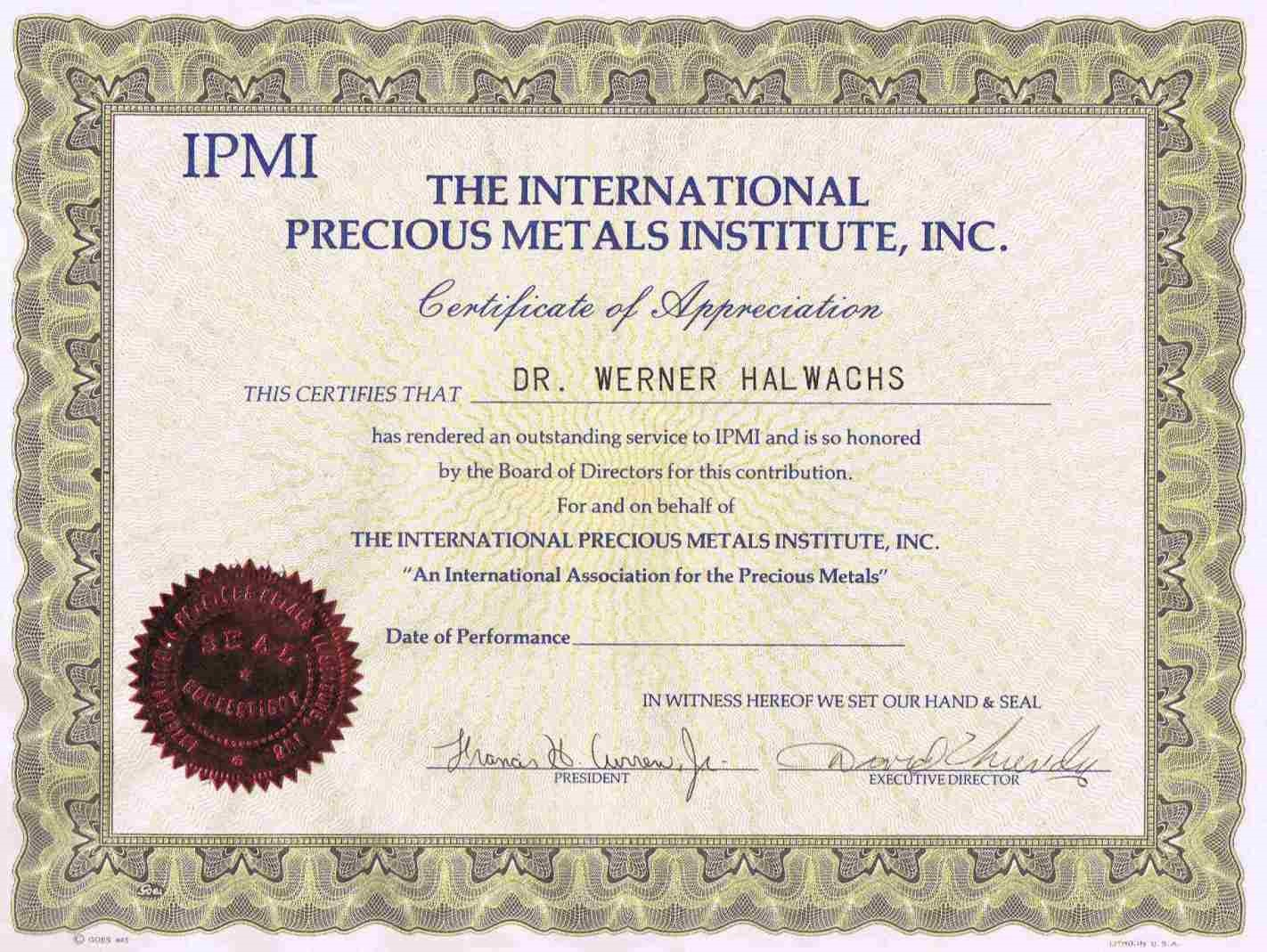 IPMI acknowlegement